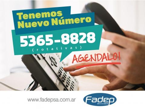 Nuevo Numero Telefonico de Fadep Envases 5365-8828 (rotativas)