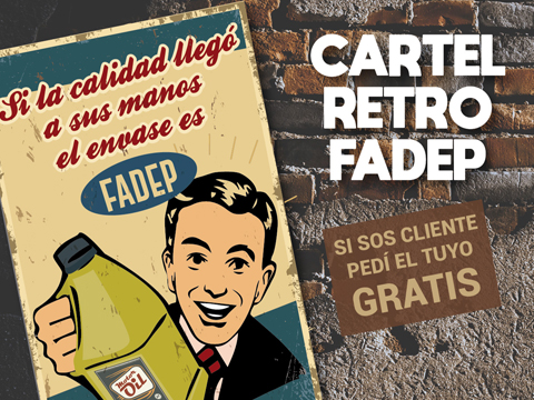 Cartel Retro Fadep