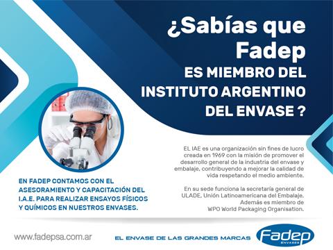 Fadep: Miembro del Instituto Argentino del Envase
